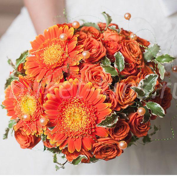 """Букет цветов """"Оранжевое счастье"""""""